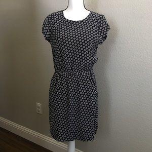 Madewell Navy Geometric Cutout Dress (Size 6)